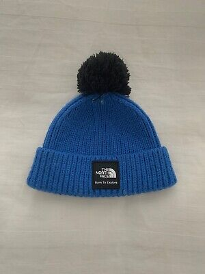 NORTH FACE Woolen Baby Hat With Pom Pom 0-6 Months