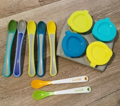 Tommee Tippee Weaning Pots And Spoons