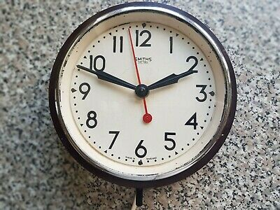 Vintage Smiths Sectric Electric Wall Clock Bakelite - working original condition
