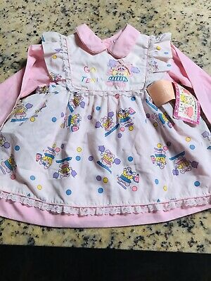 2 Piece Pinafore & Dress NWT Vintage/Antique Baby Girls 24 Months Or Doll