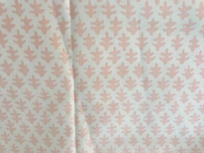 Sister Parish Burmese Pink  and Cream Cotton Fabric By The Yard