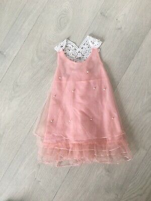 Childrens photography prop Pink Pearl Detail Dress