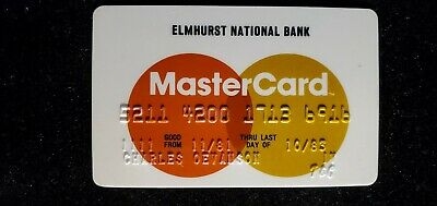 Elmhurst National Bank MasterCard credit card exp 1983♡Free Shipping♡cc656