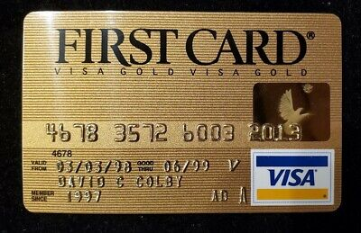 First Card Gold Visa exp 1999♡Free Shipping♡cc633♡