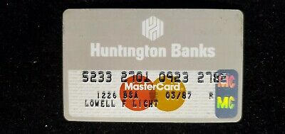 Huntington Banks MasterCard credit card exp 2001♡Free Shipping♡cc651