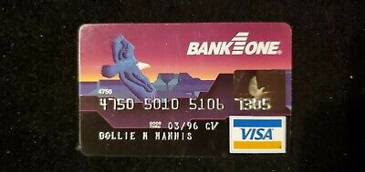 Bank One Visa exp 1996♡Free Shipping♡ cc739 Eagle