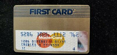 First Card Gold MasterCard credit card exp 1989♡Free Shipping♡cc665