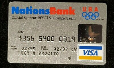 Nations Bank official sponsor 1996 Olympic Team credit card♡Free Shipping♡cc945