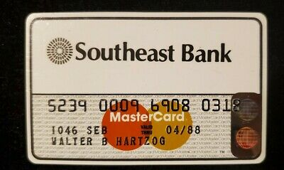 Southeast Bank MasterCard exp 1988♡Free Shipping♡ cc746