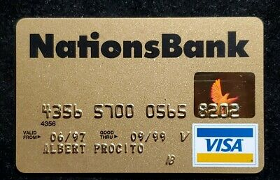 Nations Bank Visa Gold credit card exp 1999♡Free Shipping♡cc946