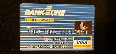 Bank One Visa exp 1998♡Free Shipping♡ cc736