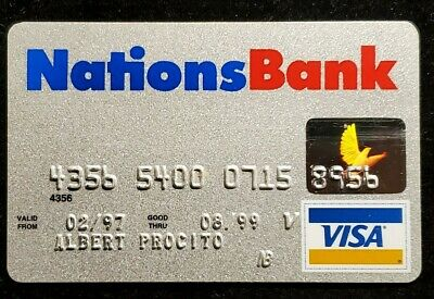 Nations Bank Visa credit card exp 1999♡Free Shipping♡cc947