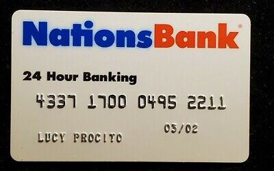 Nations Bank 24 hour banking exp 2002♡Free Shipping♡ cc936