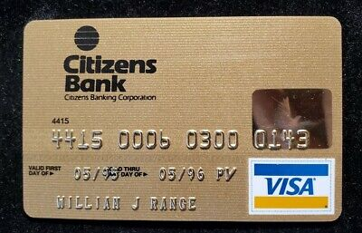 Citizens Bank Gold Visa credit card exp 1996♡Free Shipping♡cc678