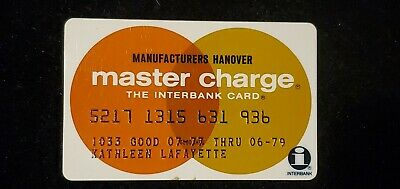 MANUFACTURES Hanover Master Charge exp 1979♡Free Shipping♡ cc735