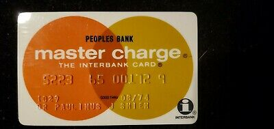 Peoples Bank Master Charge exp 1974♡Free Shipping♡ cc742