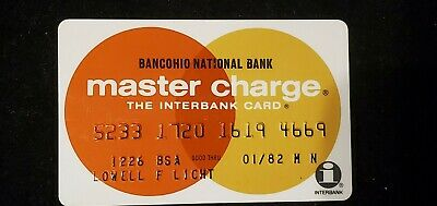 BANCOHIO NATIONAL BANK MasterCharge exp 1982♡Free Shipping♡ cc728