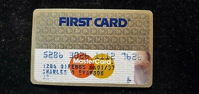 First Card Gold MasterCard credit card exp 1987♡Free Shipping♡cc664