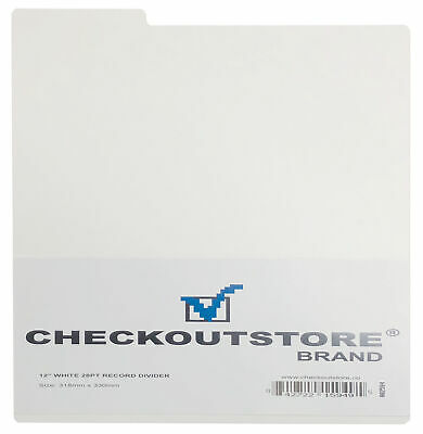 "CheckOutStore White Plastic Record Dividers 33 RPM for 12"" Vinyl 33 RPM"