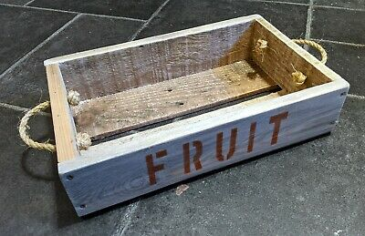 Hand-Made Rustic Wooden FRUIT Tray / Crate / Box