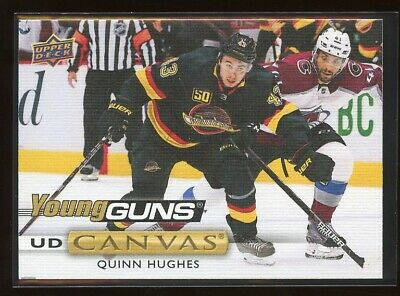 2019-20 Upper Deck Series 2 Quinn Hughes Young Guns Canvas Vancouver Canucks