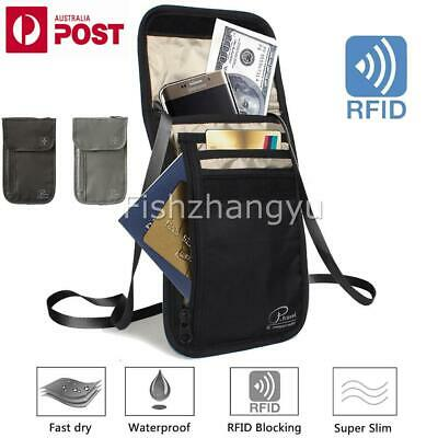 RFID Blocking Anti Scan Travel Passport Credit Card Wallet Holder Pouch 2Color