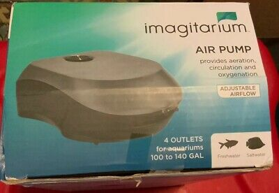 Imagitarium Aquarium Air Pump 4 Outlet 100-140 Gal Aerate Circulate Oxygenate