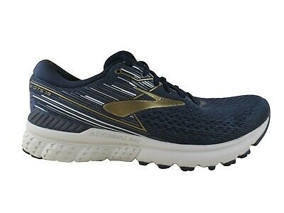 Brooks Men's Adrenaline GTS 19 Stability Cushion Running Shoes Navy Gold Grey