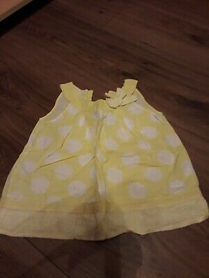 girls yellow spotty sleeveless summer top age 3-4 years from next