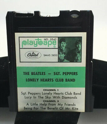 The Beatles Sgt Peppers Lonley Hearts Club Band Playtape No 0542 Cartridge Japan