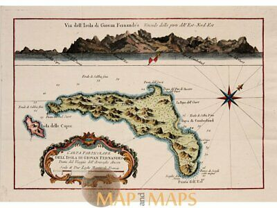 Chile old map Isola Di Giovan Fernandes Bellin map1754