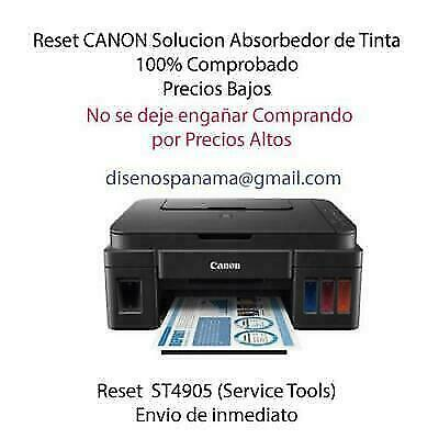 UNLIMITED LICENCE STV4905 RESET CANON G1100,G2100,G4100  ¡*INSTANT DISPATCH*!