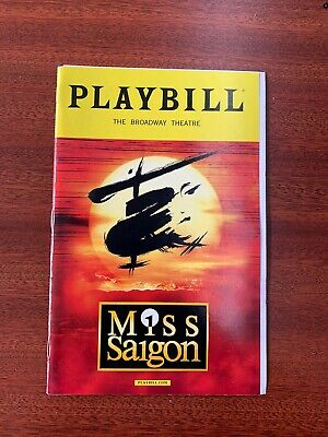 Miss Saigon March 2017 Broadway Playbill Opening Night with Ticket
