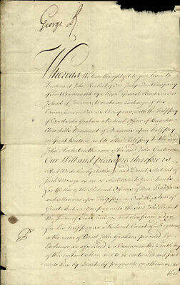 King George Ii (Great Britain) - Document Signed 05/18/1732