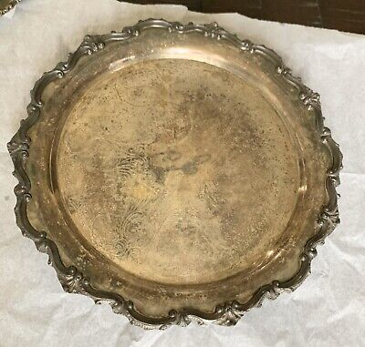 Large Antique Sterling Silver Plate/Tray Early 1900s