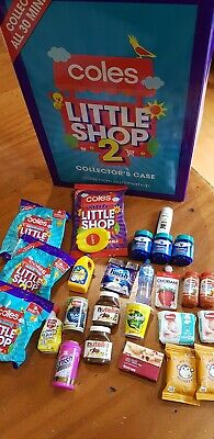 Coles  - Little Shop 1 & 2 Mini collectables 29x minis + case