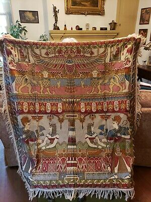 Egytian Wall hanging or throw. Beautiful colors excellent condition.