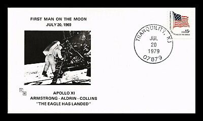 Dr Jim Stamps Us Apollo Xi Man On Moon Tenth Anniversary Cover 1979