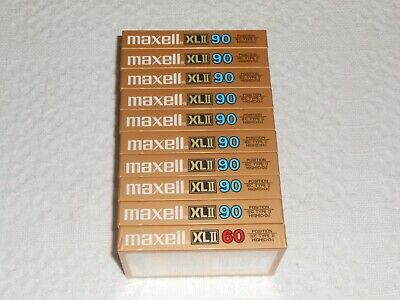 Set Of 10 New Maxell Xlii 60,90 Extra Fine Epitaxial Cassette Tapes  Japan