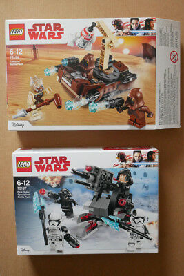 Star Wars Lego 75197 BRAND NEW SEALED and 75198 with two minifigures