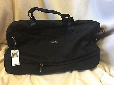 NWT Vera Bradley Black Lighten Up Wheeled Carry On Luggage $198 Authentic New