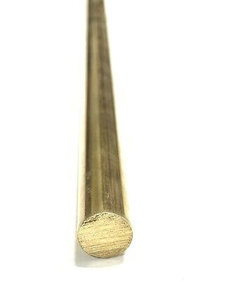 "3/8"" .375"" C360 Brass Solid Round Bar Rod H02 12"" Piece"