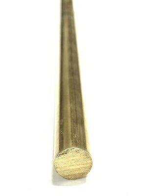 "3/8"" .375"" C360 Brass Solid Round Bar Rod H02 6"" Piece"