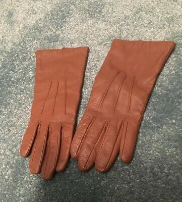 Hobbs beautiful Brown Soft leather gloves ~ excellent condition