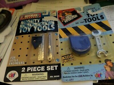Handyman Mighty Mini Die-Cast Toy Tools Monkey 1995& home improvement 2 pc set