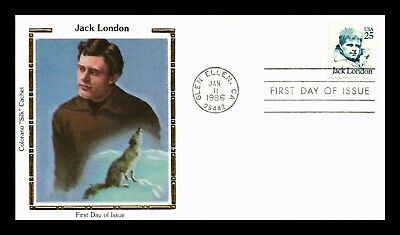 Dr Jim Stamps Us Jack London Colorano Silk First Day Of Issue Cover