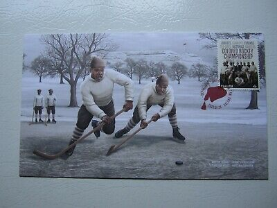 Canada Post 2020 Black History Colored Hockey Championship First Day Cover
