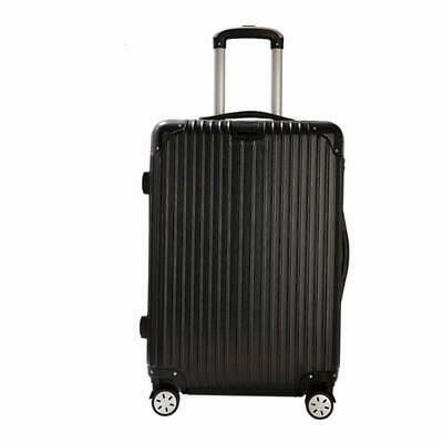 20'' Luggage Travel Set Bag ABS Trolley 360° Spinner Carry On Suitcase Black