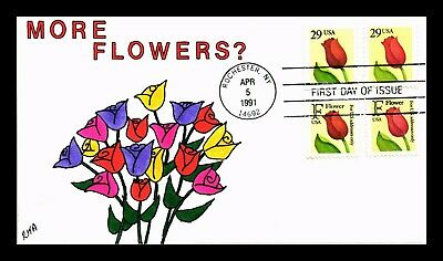 Dr Jim Stamps Us Tulip Flower Combo Hand Colored First Day Of Issue Cover