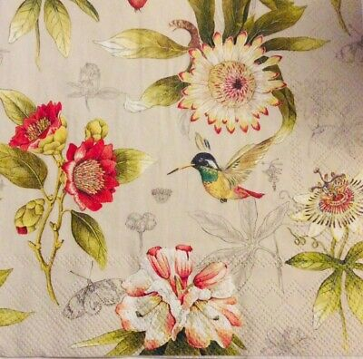 Decoupage Paper Napkins,// 3ply// Flowers// Decorative Paper// Card Making x 2